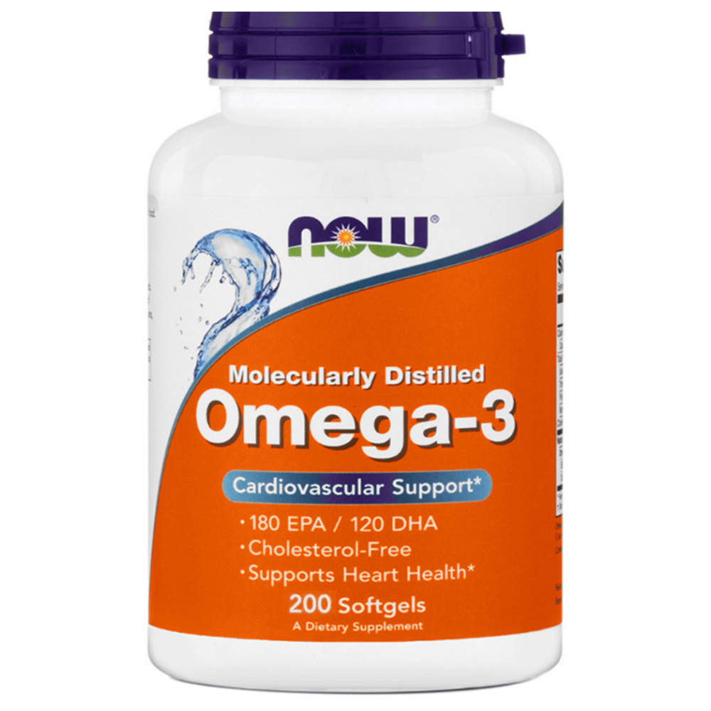 Витамины NOW Omega 3 1000 mg 200 softgels